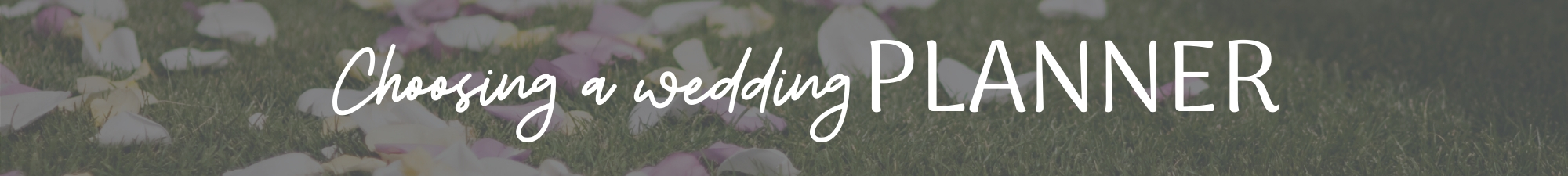 Choosing a wedding planner